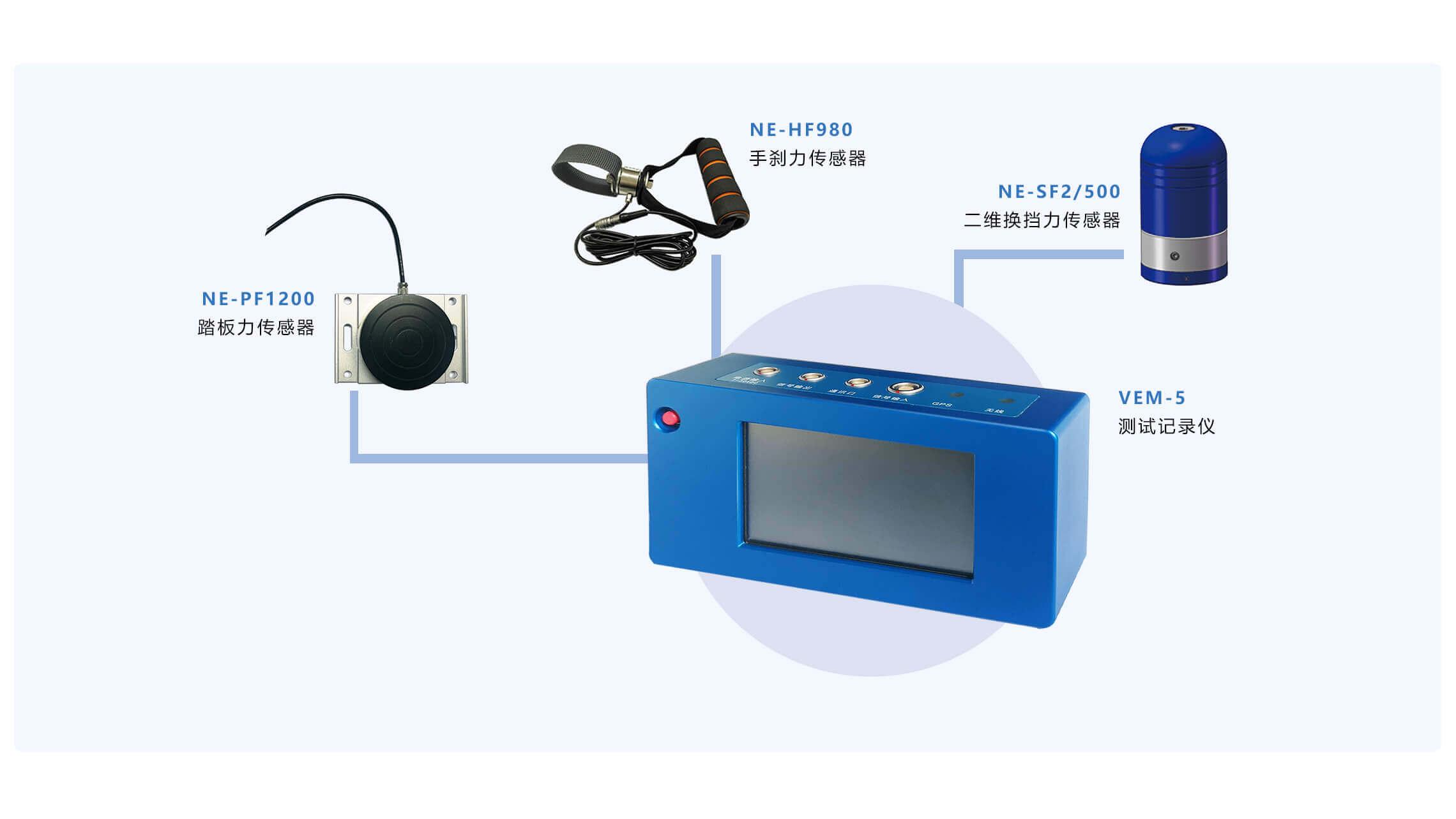踏板力/换挡力/手刹力测试系統配置